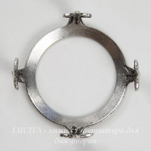 """Сеттинг - основа """"Черепашка"""" для камеи или кабошона 19 мм (оксид серебра) ()"""