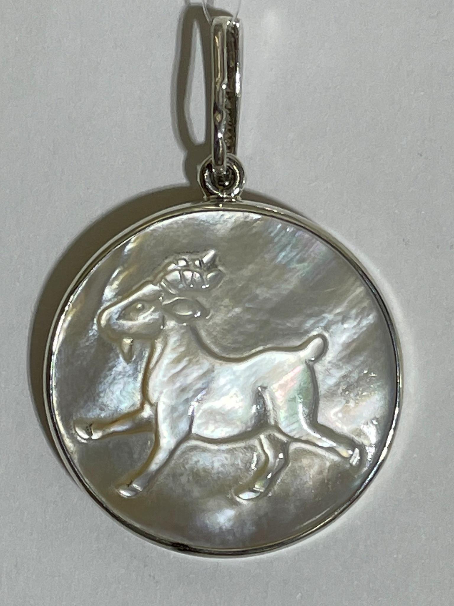 Козерог  (кулон из серебра)