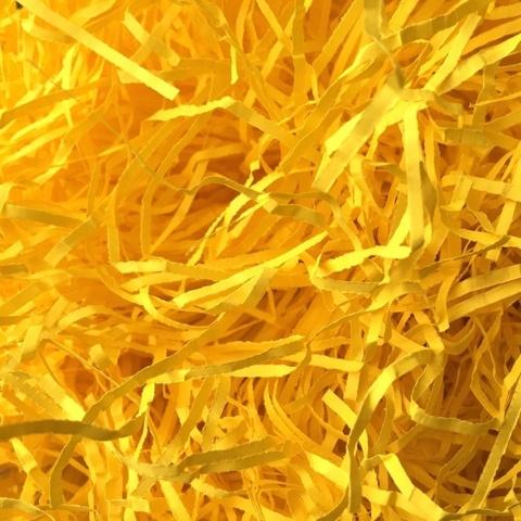 Бумажная стружка 2мм. Цвет: ярко-желтый. 25г