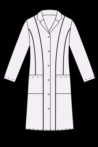Выкройка женского медицинского халата технический рисунок