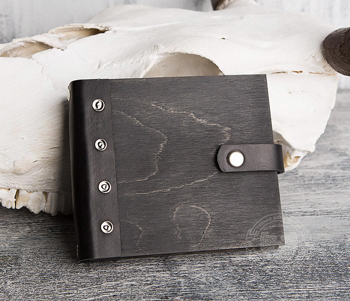 BC127-1 Деревянный блокнот с крафт блоком, ручная работа