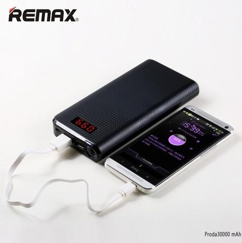 Внешний аккумулятор Remax Proda 30000mAh, черный, RP-30-BL