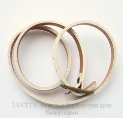 Браслет (кожа) цвет - белый + античная бронза 520х8,5 мм