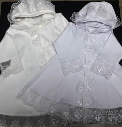 Крестильное платье с капюшоном