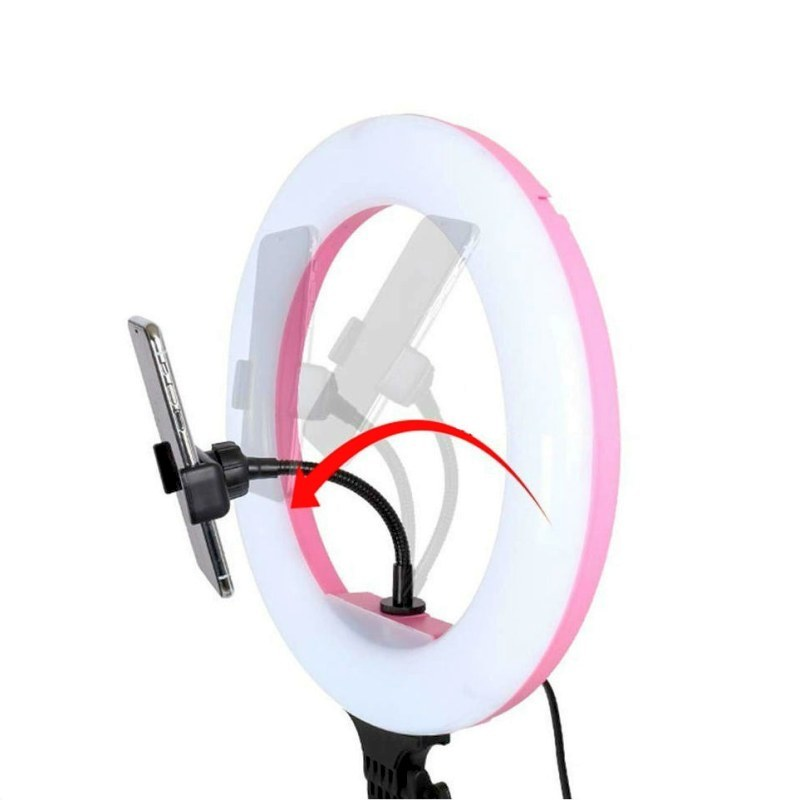 Лампа с розовой окантовкой