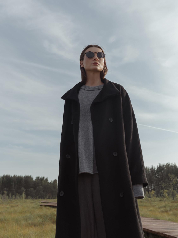 Пальто Баку с воротником стойкой