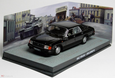 GAZ-31029 Volga James Bond Movie Car Goldeneye 007 Collection Altaya 1:43