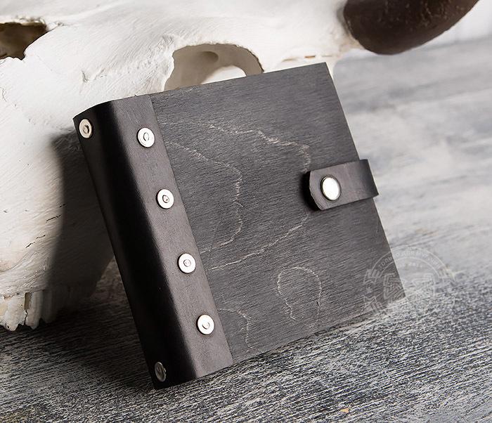 BC127-1 Деревянный блокнот с крафт блоком, ручная работа фото 02