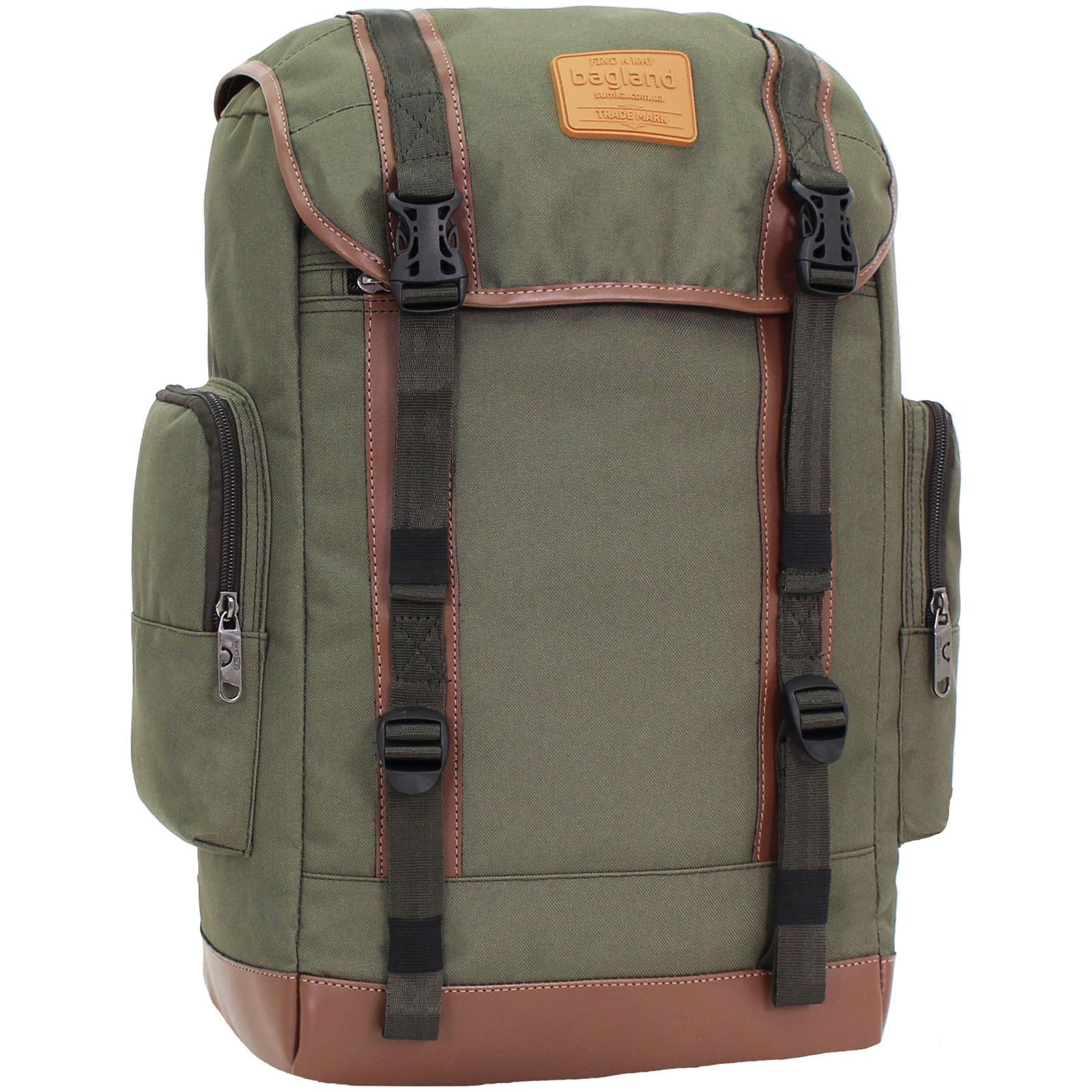 Городские рюкзаки Рюкзак для ноутбука Bagland Palermo 25 л. Хаки (0017966) IMG_9365.JPG