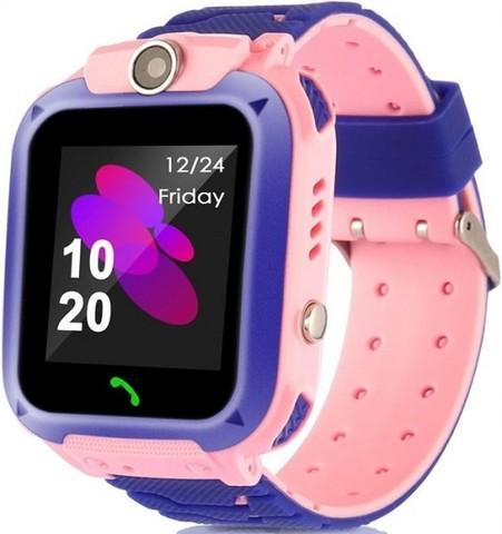Детские умные часы Smart Baby Watch Q12 pink розовые