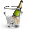 SEAU A CHAMPAGNE- Ведро для охлаждения шампанского 22 см стекло (champagne bucket)