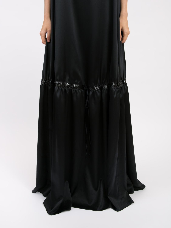 Платье-баллон длинное