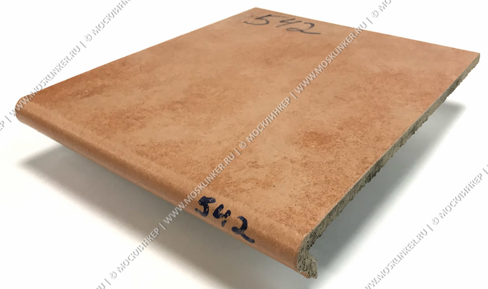 Stroeher - Euramic Cavar E 542 passione 340х294х11 артикул 9350 - Клинкерная ступень - флорентинер