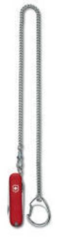 Цепочка Victorinox, хромированная с кольцом для ключей и карабином, 40 см