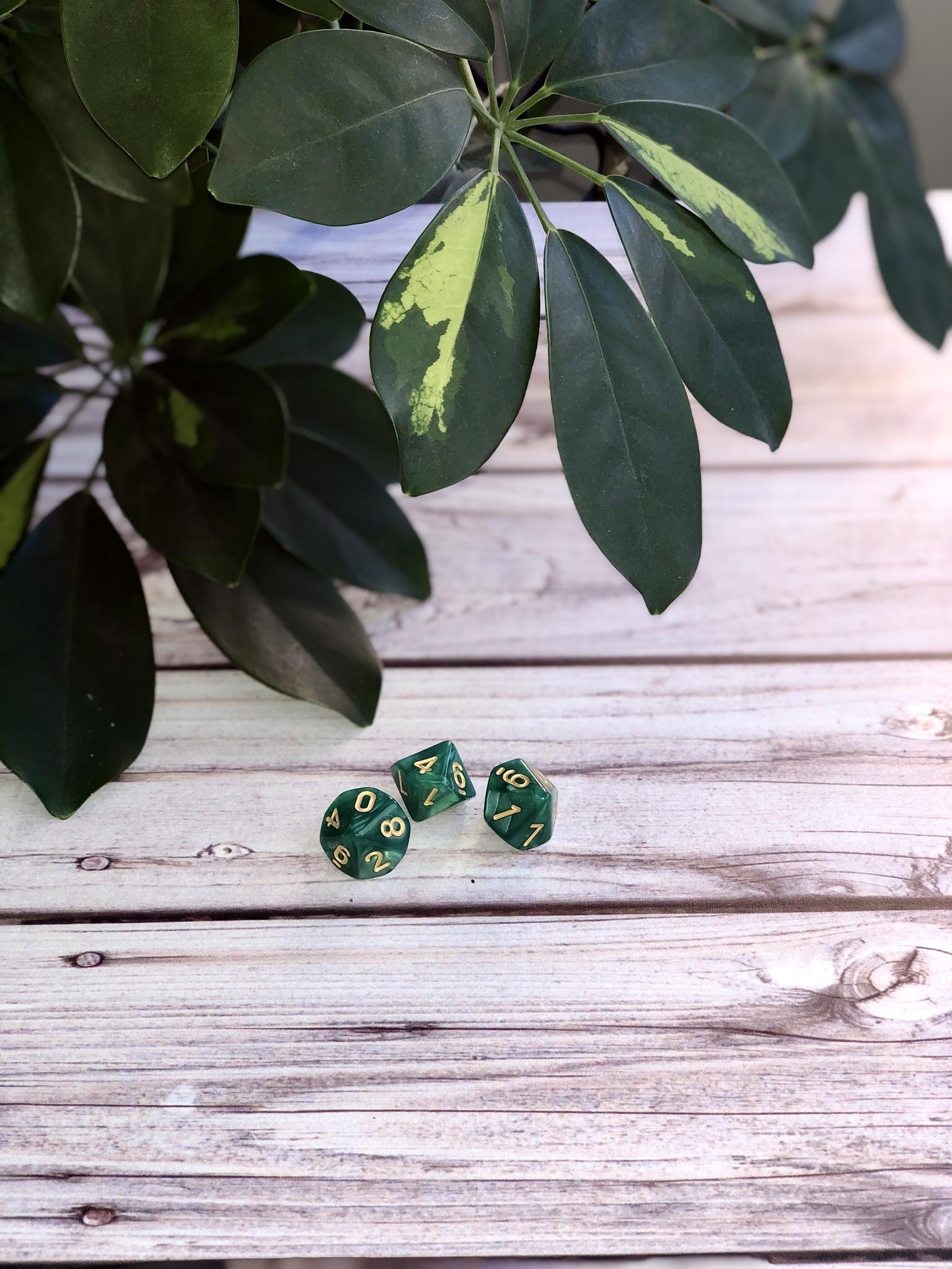 Кубики-вестники зеленые