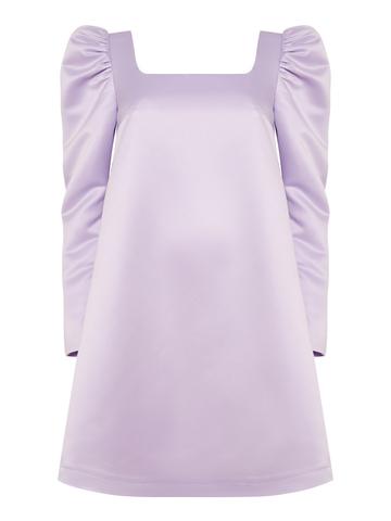 Платье мини в сиреневом цвете