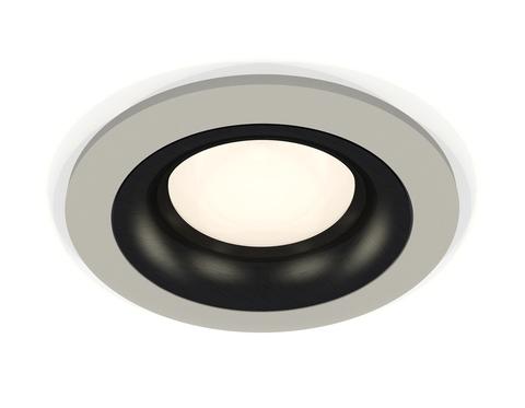 Комплект встраиваемого светильника XC7623002 SGR/PBK серый песок/черный полированный MR16 GU5.3 (C7623, N7011)