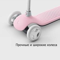 Детский кикборд Xiaomi Rice Rabbit Scooter Pink (Розовый)