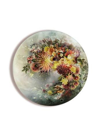 Картина на стекле тондо для интерьера круглая