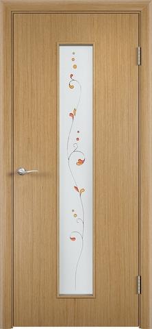 Дверь Верда С-21, стекло Сатинато (Амелия), цвет дуб, остекленная