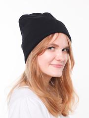 Черная шапочка бини