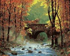 Картина раскраска по номерам 40x50 Повозка на мосту