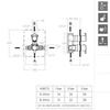 Встраиваемый термостатический смеситель для душа RS-Q 938712S на 2 выхода - фото №2
