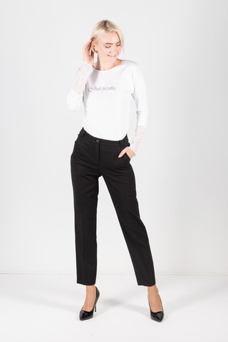 Фото классические черные брюки со стрелками - Брюки А490-744 (1)