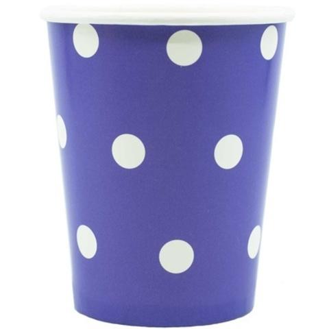 Стакан Горошек фиолетовый 250мл 6шт