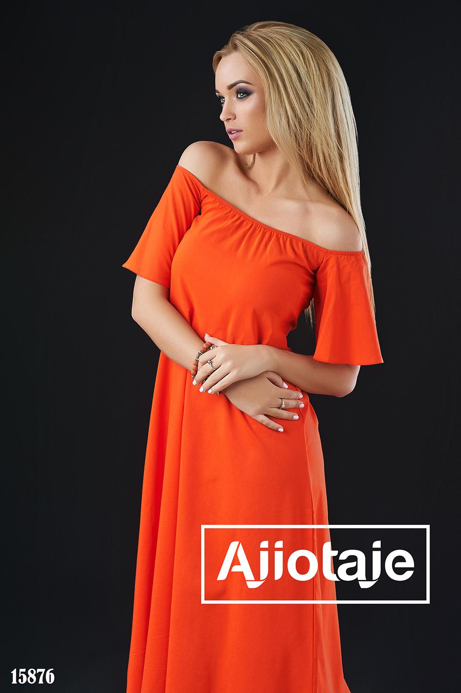 Платье А-силуэта с открытыми плечиками