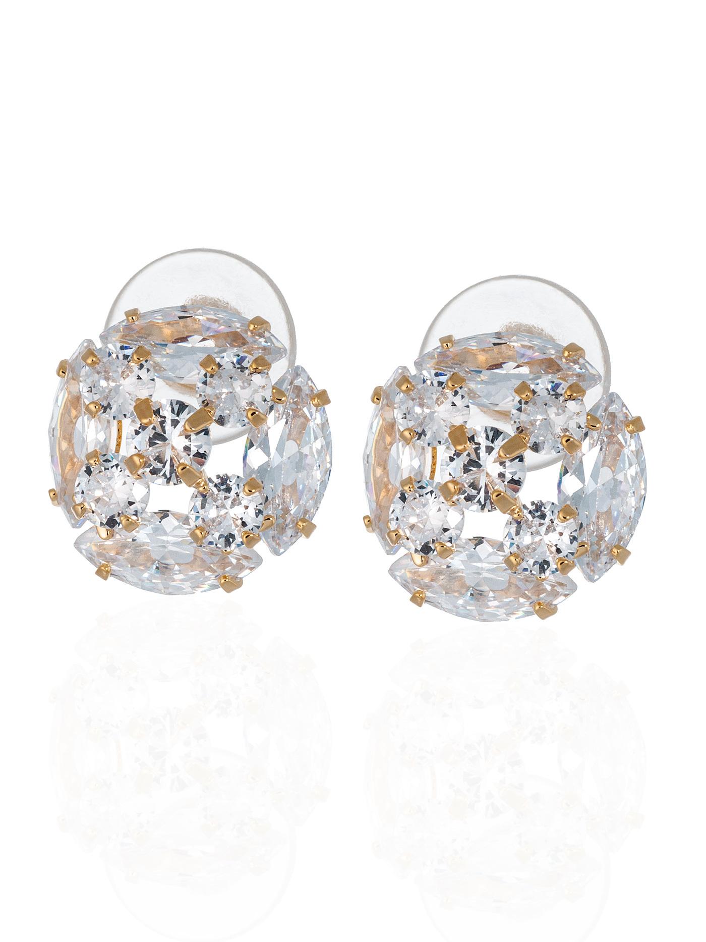 Вечерние серьги с кристаллами в подарочной коробке, подарок девушке