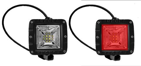 Светодиодная LED фара панорамного красного.и белого света 40 Вт Аврора