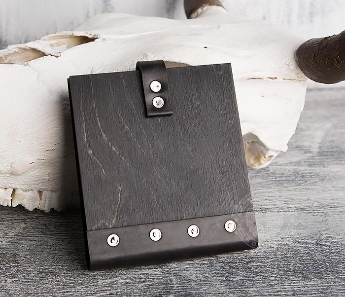BC127-1 Деревянный блокнот с крафт блоком, ручная работа фото 04