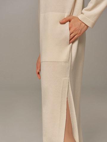 Женское платье молочного цвета из шерсти и кашемира - фото 4