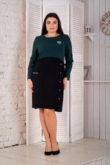 Ріанна. Гарне плаття plus size. Смаргд
