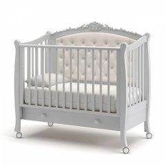 Кровать детская Жанетт new с колесами и ящиком белая ночь