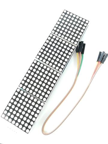 Модуль из 4 светодиодных матриц 8x8 на базе MAX7219, красный