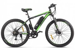 Электровелосипед Eltreco XT 600 D (2021) Чёрно-зелёный