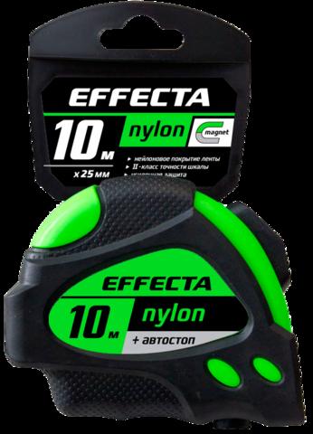 Рулетка 10мх25мм пластиковый корпус Effecta Nylon