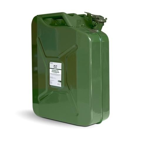 Канистра топливная металлическая вертикальная AVS VJM-20, 20л, зелёная