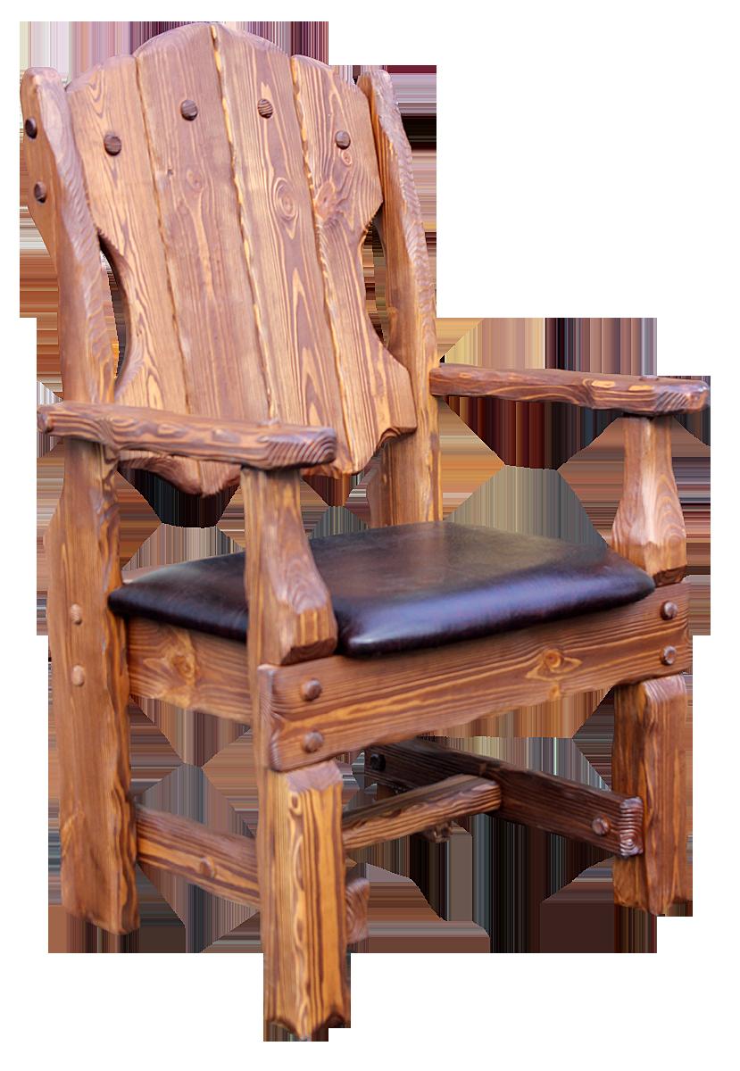Кресло Добряк с кожей