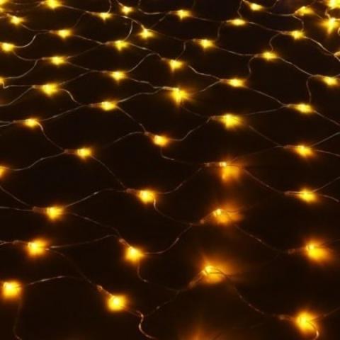 Гирлянда сетка LED Размер 150*150 Жёлтая
