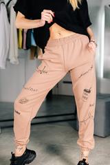 Спортивные штаны с надписями спереди Nadya