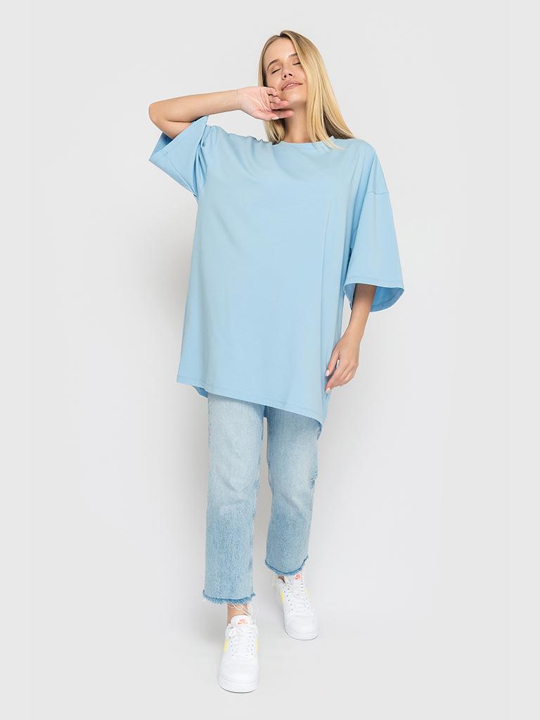 Футболка голубая YOS от украинского бренда Your Own Style