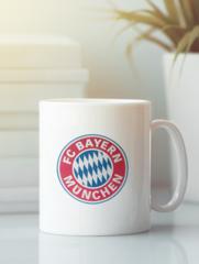 Кружка с изображением FC Bayern München (ФК Бавария) белая 001