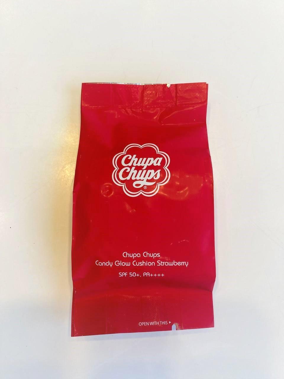 Запаска на кушон Chupa Chups Candy Glow Cushion Strawberry 1.0 Ivory SPF50