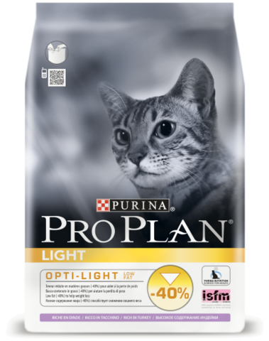 Purina PRO PLAN Light с индейкой 400 гр