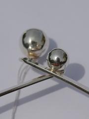Гривна с шариками  (серебряное колье)