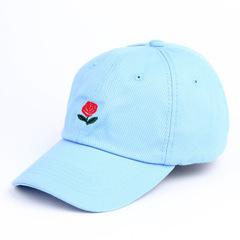 Кепка с розой голубая (Бейсболка с розой голубая)