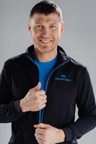 Толстовка Nordski Zip Black/Blue мужская